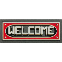 Fußmatte Welcome 3D rot