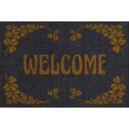 Fußmatte Welcome Art Deco gold Salonloewe