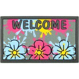 Fußmatte Welcome Flower Splash