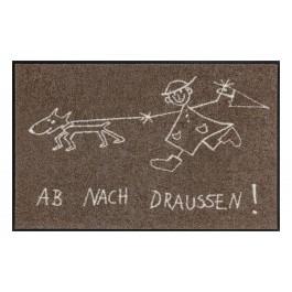 Fußmatte Salonloewe Design Ab nach draussen 50cm x 75cm