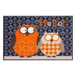 Fußmatte Salonloewe Design Eulen Lars & Lotte Orange 50cm x 75cm