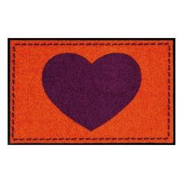 Fußmatte Salonloewe Hearts Orange