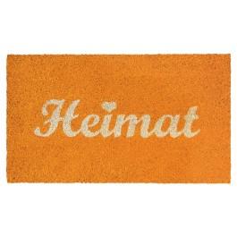 Fussmatte Heimat Orange