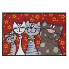 Fußmatte Salonloewe Design Katzenfamilie
