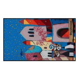 Fußmatte Salonloewe Design Little Town 75cm x 120cm