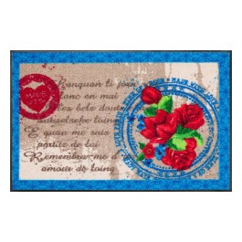 Fußmatte Salonloewe Design Mon Amour Bleu