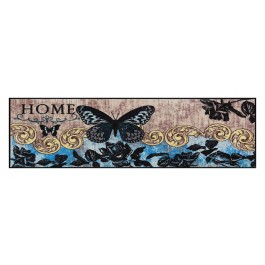 Fußmatte Salonloewe Design Papillon Bleu 60cm x 180cm