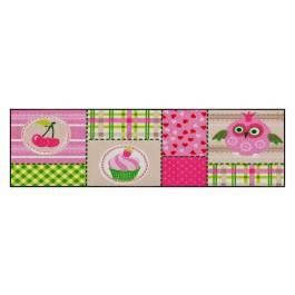 Fußmatte Salonloewe Design Pink Cottage 60 cm x 180 cm