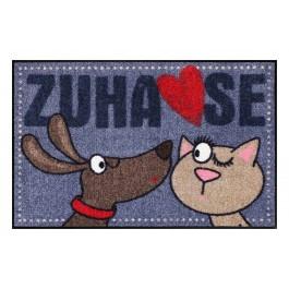 Fußmatte Salonloewe Dog loves Cat