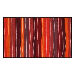Fußmatte Salonloewe Wavy Lines Red XL