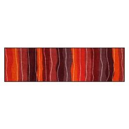 Fußmatte Salonloewe Wavy Lines Red XXL