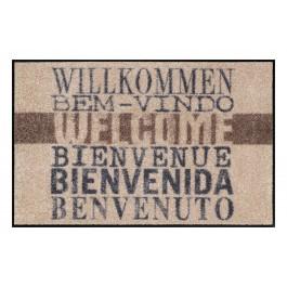 Fußmatte Salonloewe Welcome international beige
