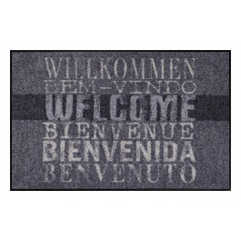Fußmatte Salonloewe Welcome international grau