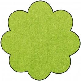 Fußmatte Salonloewe Uni apfelgrün Blume