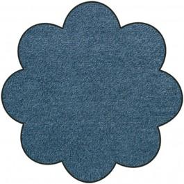 Fußmatte Salonloewe Uni denimblau Blume