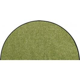 Fußmatte Salonloewe Uni olivgrün halbmond
