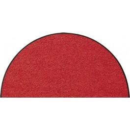 Fußmatte Salonloewe Uni rot halbmond