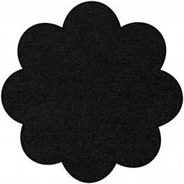 Fußmatte Uni schwarz blume