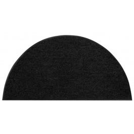 Fußmatte Uni schwarz halbmond