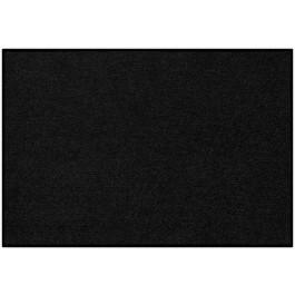 Fußmatte Uni schwarz rechteckig