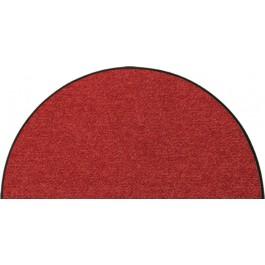 Fußmatte Salonloewe Uni terracotta halbmond