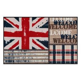 Fußmatte Salonloewe Design Union Jack Patchwork 50cm x 75cm
