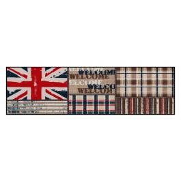 Fußmatte Salonloewe Design Union Jack Patchwork 60 cm x 180 cm