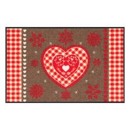 Fußmatte Salonloewe Design Weihnachtsherz