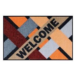 Fußmatte Salonloewe Design Welcome Groovy Cross 50 cm x 75 cm