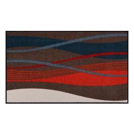 Fußmatte Salonloewe Design Wellen Beige/Orange