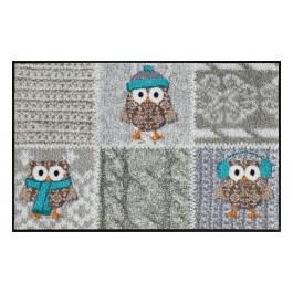 Fußmatte Salonloewe Winter Owls Silver