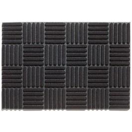 Gummifußmatte Gumflock schwarz