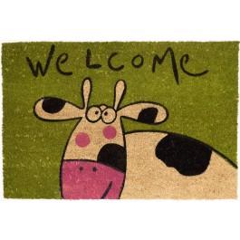 Kokosfußmatte Lako Cocoprint Colori Welcome MuhKuh