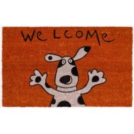 Kokosfußmatte Lako Cocoprint Colori Welcome Hund