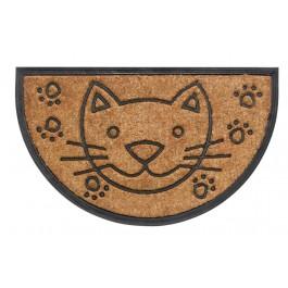 Kokos-Gummimatte Bombay cat halbrund