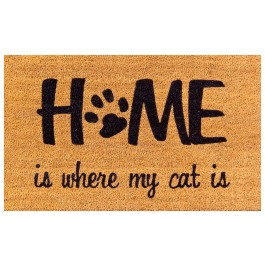 Kokosfußmatte Coco Design Home is my Cat