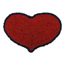 Kokosfußmatte Herz Wendematte rot schwarz