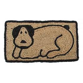 Kokosfußmatte Hund Wendematte rechteckig