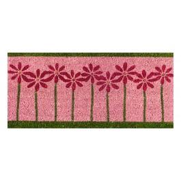 Kokosfußmatte pink Flowers small
