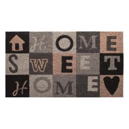 Kokosfußmatte Cocoprint Colori Home Sweet Home grau