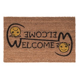 Kokosfußmatte Cocoprint Colori Welcome Smiley