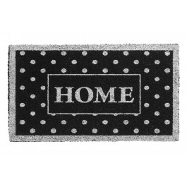 Kokosfußmatte Ruco Glitter home dots silver