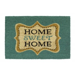 Kokosfußmatte Ruco Print home sweet home aqua