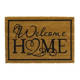 Kokosfußmatte Ruco Print natural welcome home