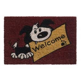 Kokosfußmatte Ruco Print welcome dog