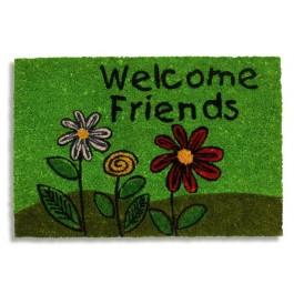 Kokosfußmatte Ruco Print welcome friends