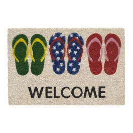 Kokosfußmatte Ruco Print welcome slippers