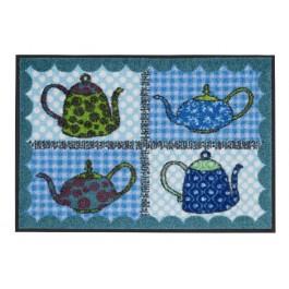 Fußmatte Salonloewe Eva Maria Nitsche Blue Teapots 50 cm x 75 cm