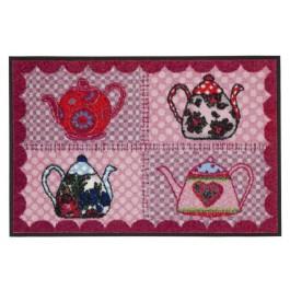 Fußmatte Salonloewe Eva Maria Nitsche Red Teapots 50 cm x 75 cm