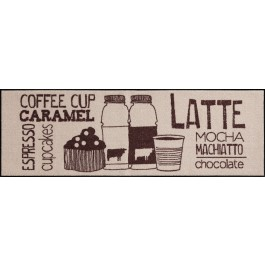 Fußmatte Salonloewe Coffeehouse Beige XXL